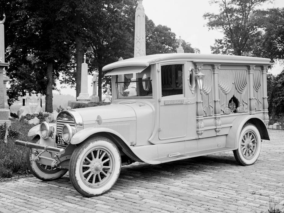 1924 Hanlon Lincoln Model-L Hearse truck trucks death retro wallpaper