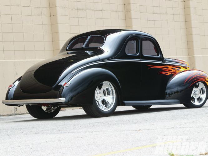 1940 Ford Coupe retro hot rod rods f wallpaper