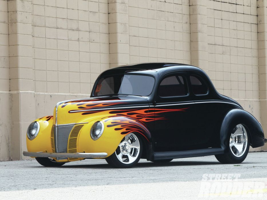 1940 Ford Coupe retro hot rod rods wallpaper