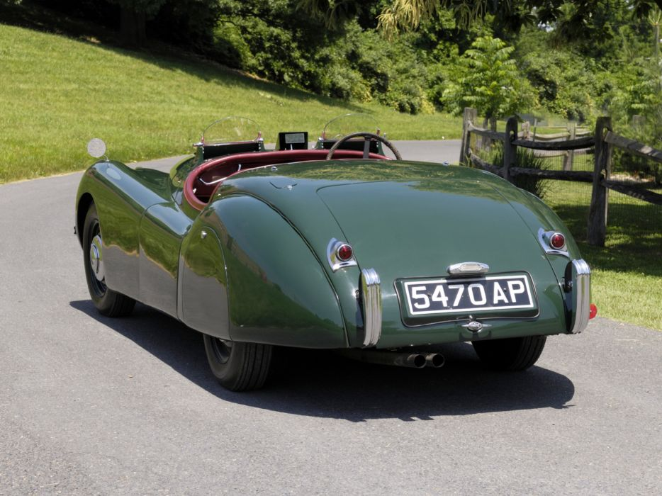1950 Jaguar XK120 Alloy Roadster retro  f wallpaper