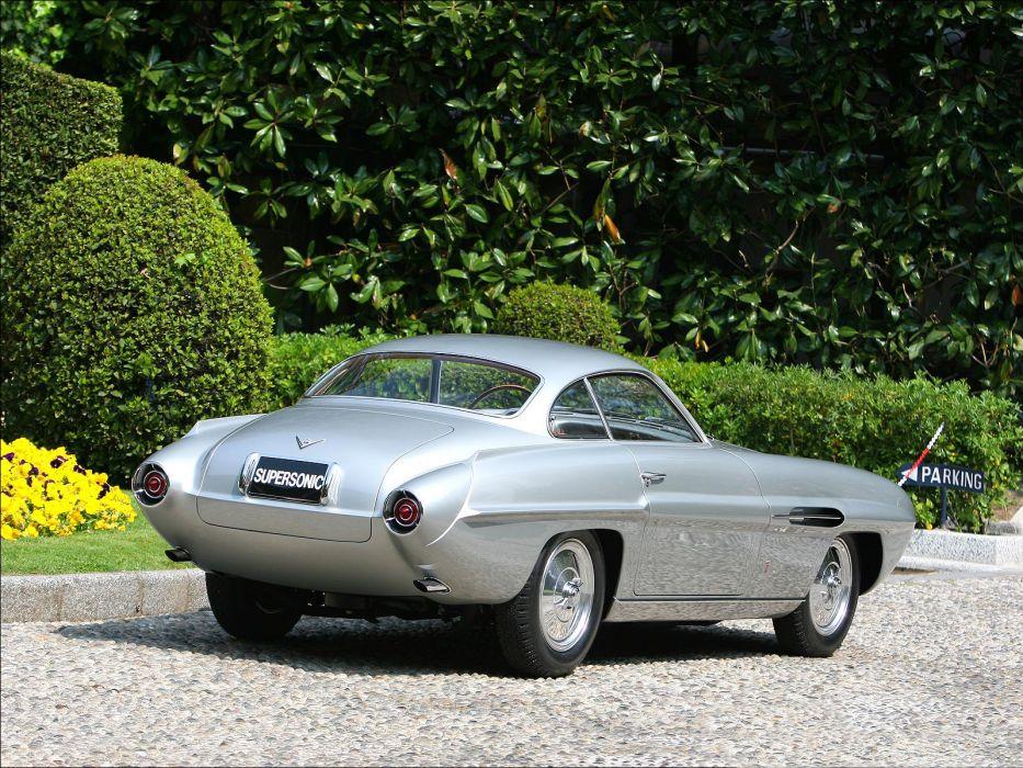 1953 Fiat 8-V Ghia Supersonic Concept retro wallpaper