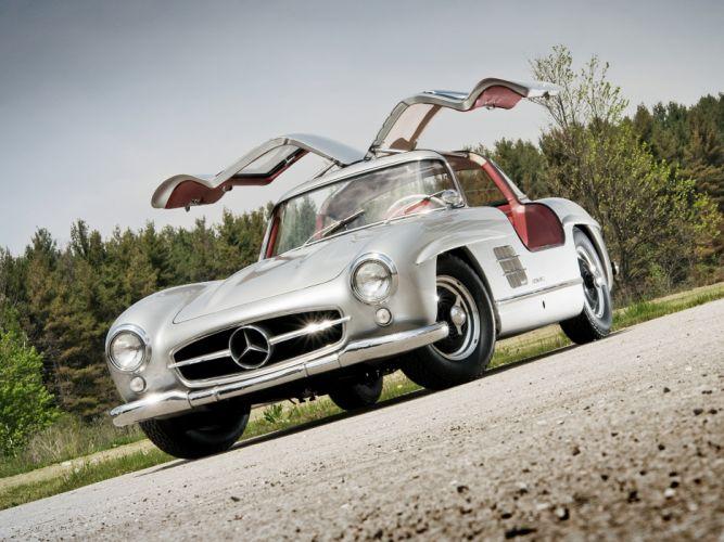 1954 Mercedes Benz 300-SL W198 300 tetro supercar supercars gullwing wallpaper