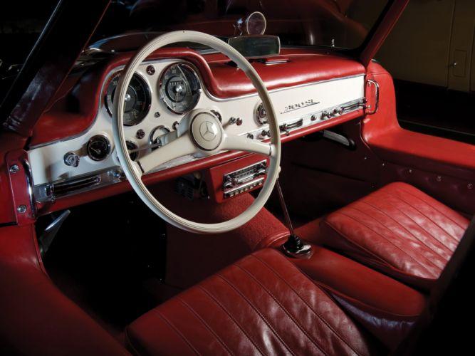 1954 Mercedes Benz 300-SL W198 300 tetro supercar supercars gullwing interior wallpaper