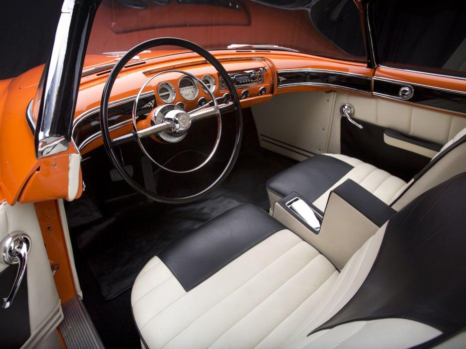 1955 Lincoln Indianapolis Concept retro interior wallpaper