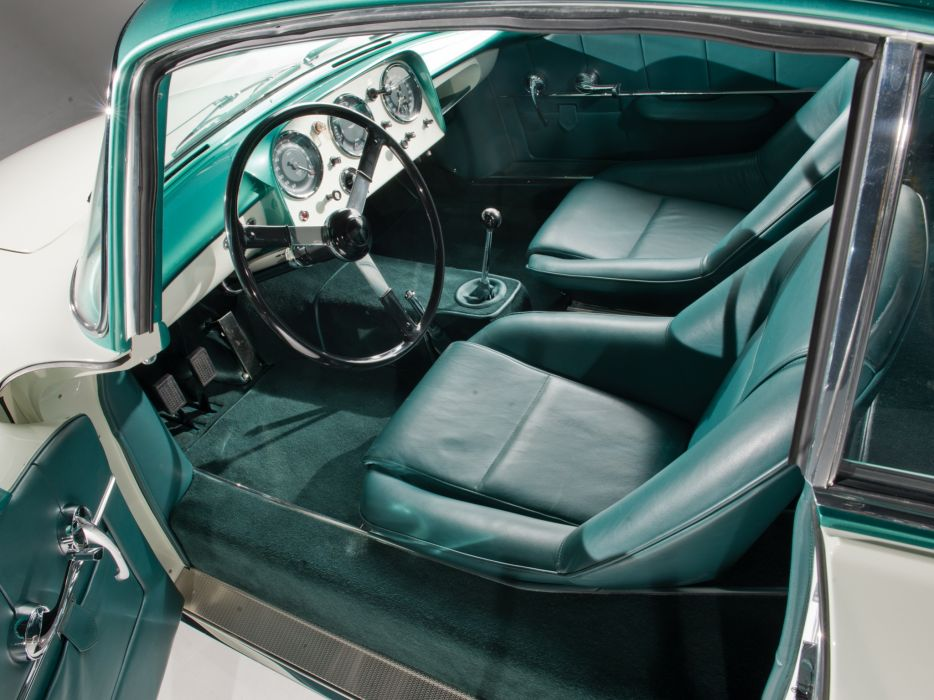 1956 Aston Martin DB2-4 Supersonic Coupe MkII retro interior wallpaper