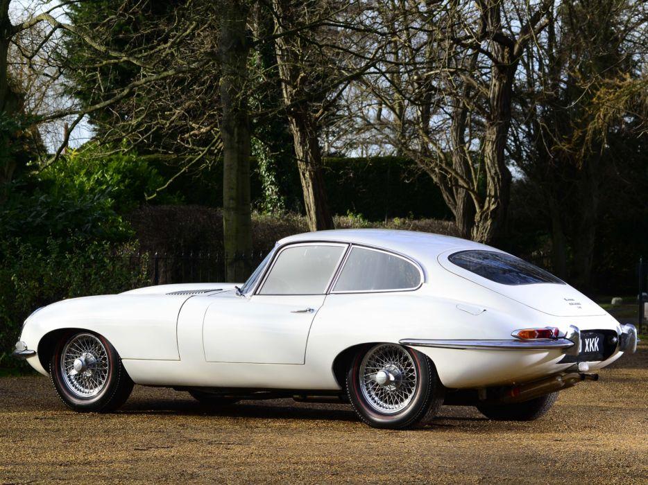 1961 Jaguar E-Type Fixed Head Coupe classic supercar supercars      fw wallpaper