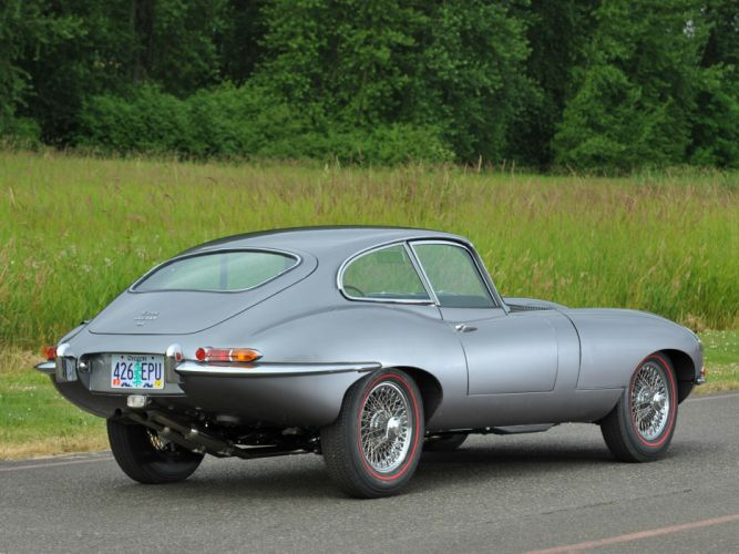 1961 Jaguar E-Type Fixed Head Coupe classic supercar supercars gd wallpaper