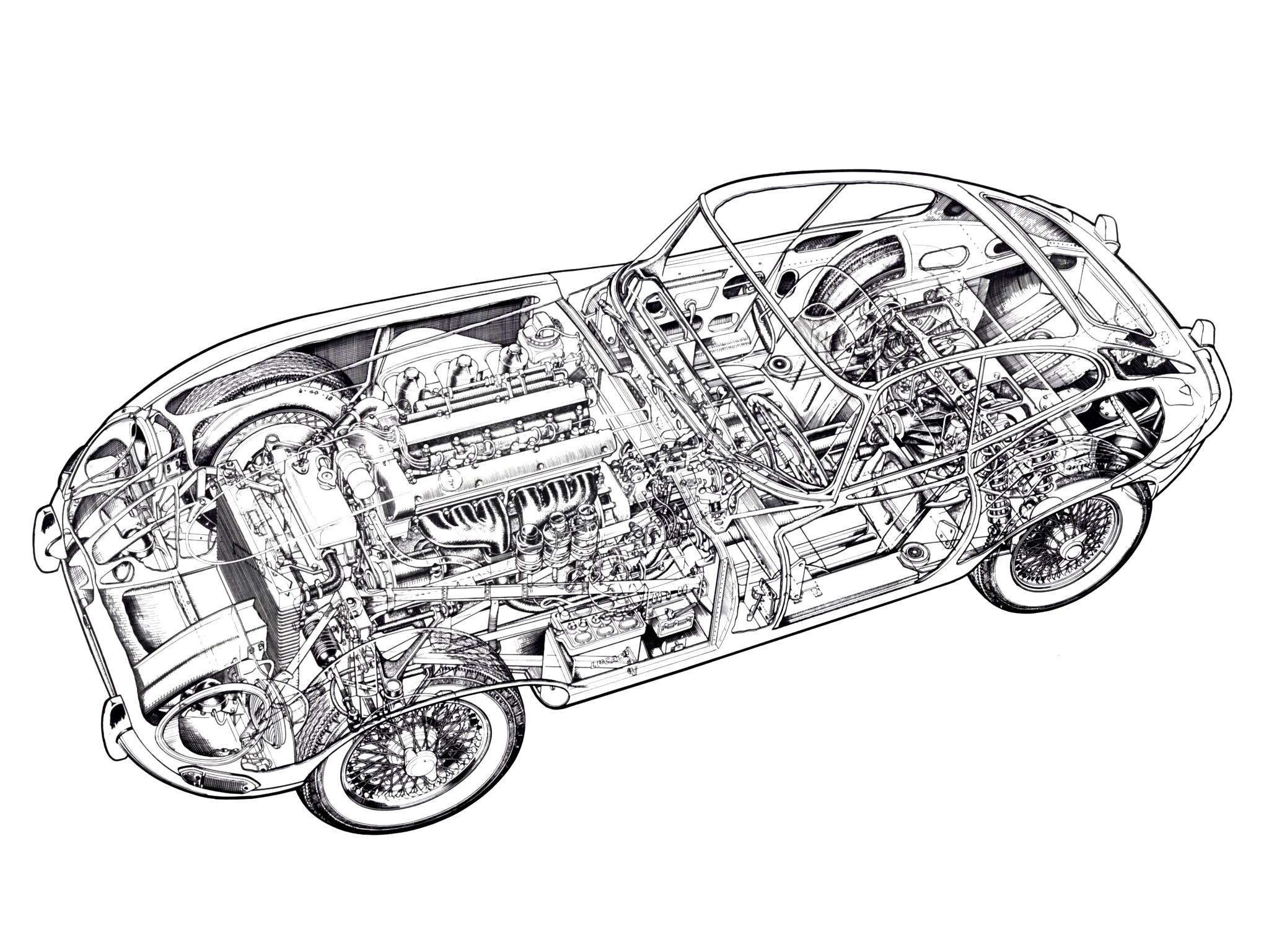1961 jaguar e type fixed head coupe classic supercar supercars rh wallpaperup com Jet Engine Cutaway Diagram Labelled Jet Engine Cutaway Diagram Labelled