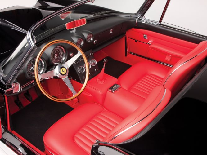 1962 Ferrari 400 Superamerica Cabriolet Tipo 538 classic supercar supercars interior wallpaper
