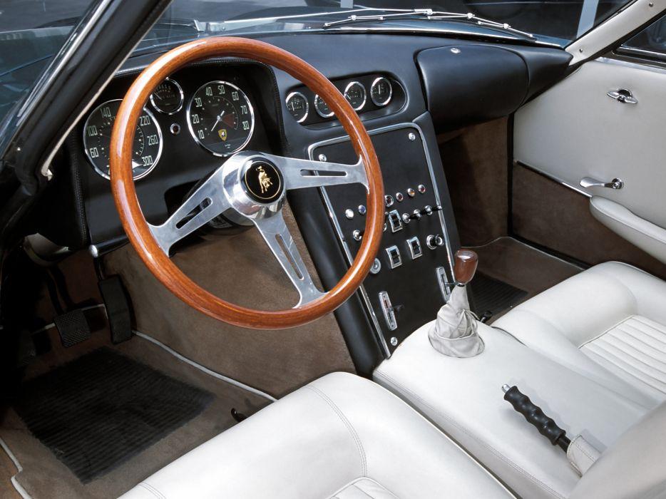 1963 Lamborghini 350 GTV classic supercar supercars interior wallpaper