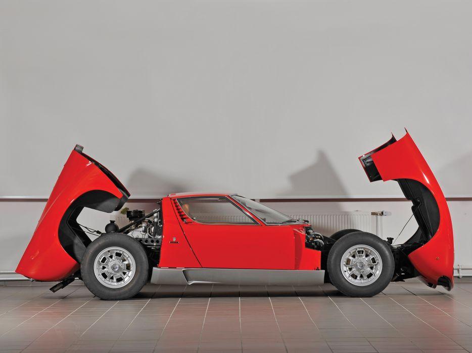 1966 Lamborghini Miura P400 classic supercar supercars engine engines wallpaper
