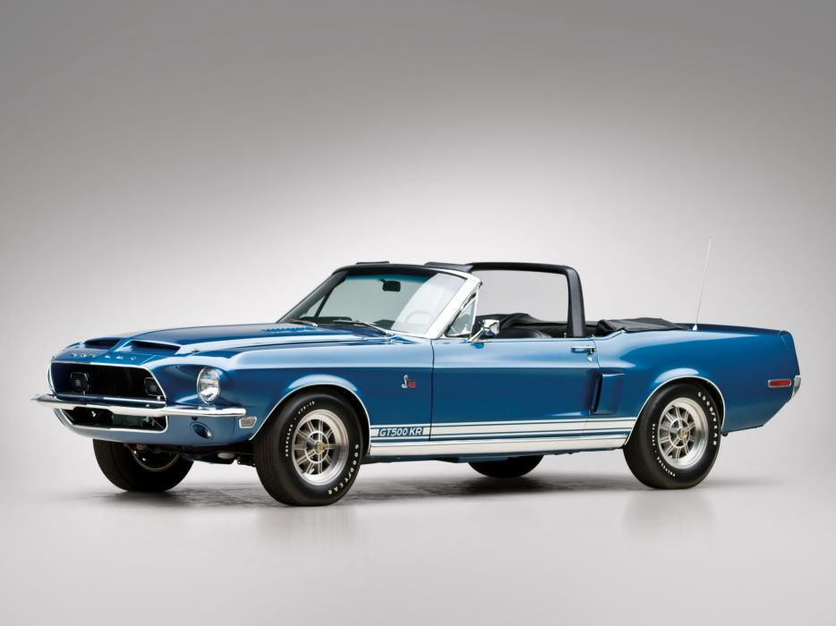 1968 Shelby GT500-KR gt500 convertible ford mustang muscle classic      g wallpaper