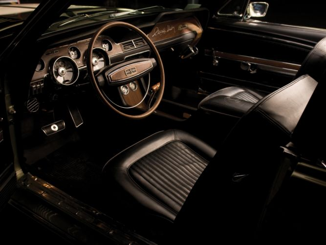 1968 Shelby GT500-KR gt500 convertible ford mustang muscle classic interior wallpaper