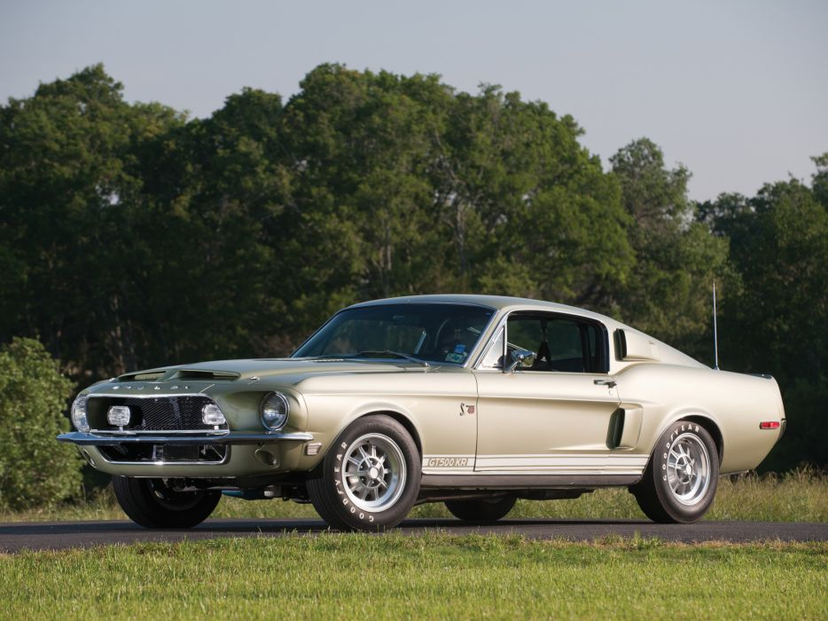 1968 Shelby GT500-KR gt500 ford mustang muscle classic     fw wallpaper