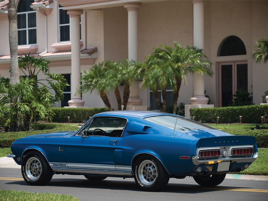 1968 Shelby GT500-KR gt500 ford mustang muscle classic  d wallpaper