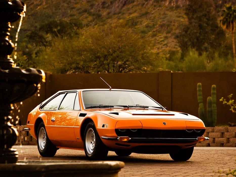 1972 Lamborghini Jarama 400 GTS classic supercar supercars   f wallpaper