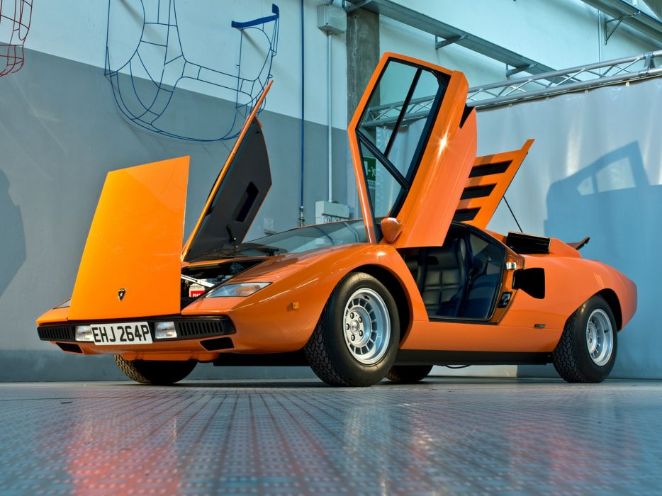 1974 Lamborghini Countach LP400 classic supercar supercars      f wallpaper