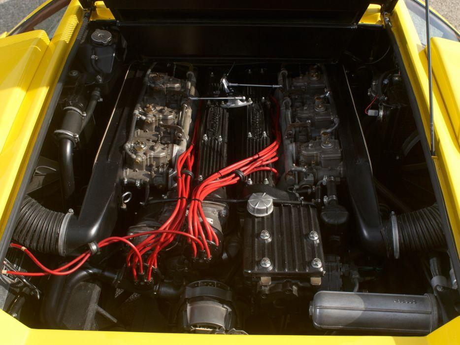 1974 Lamborghini Countach LP400 UK-spec classic supercar supercars engine engines wallpaper