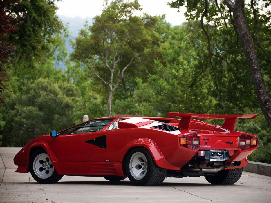 1985 Lamborghini Countach LP5000-S Quattrovalvole lp5000 classic supercars supercar  f wallpaper