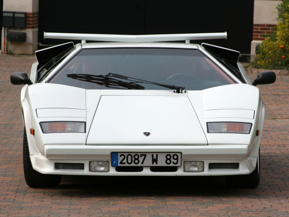 1988 Lamborghini Countach LP5000 Quattrovalvole classic supercar supercars      f wallpaper