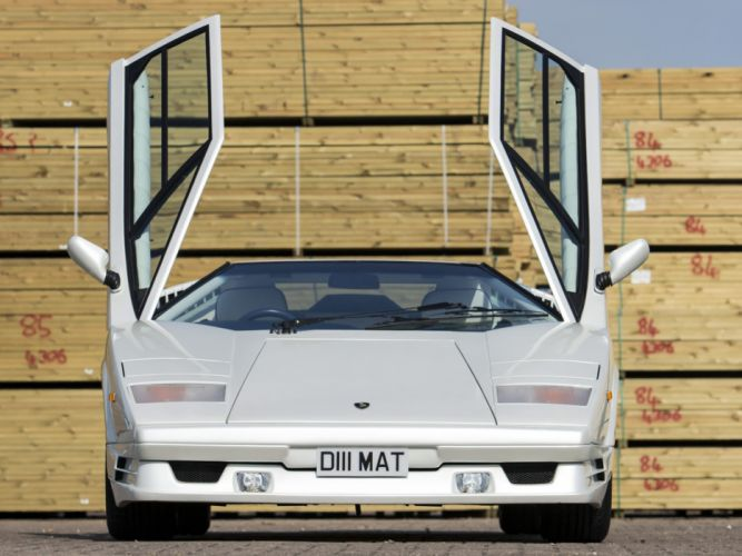 1988 Lamborghini Countach UK-spec classic supercar supercars d wallpaper