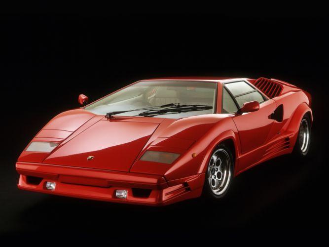 1988 Lamborghini Countach UK-spec classic supercar supercars d wallpaper