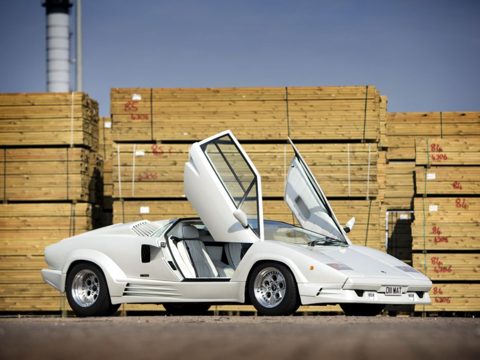 1988 Lamborghini Countach UK-spec classic supercar supercars interior wallpaper