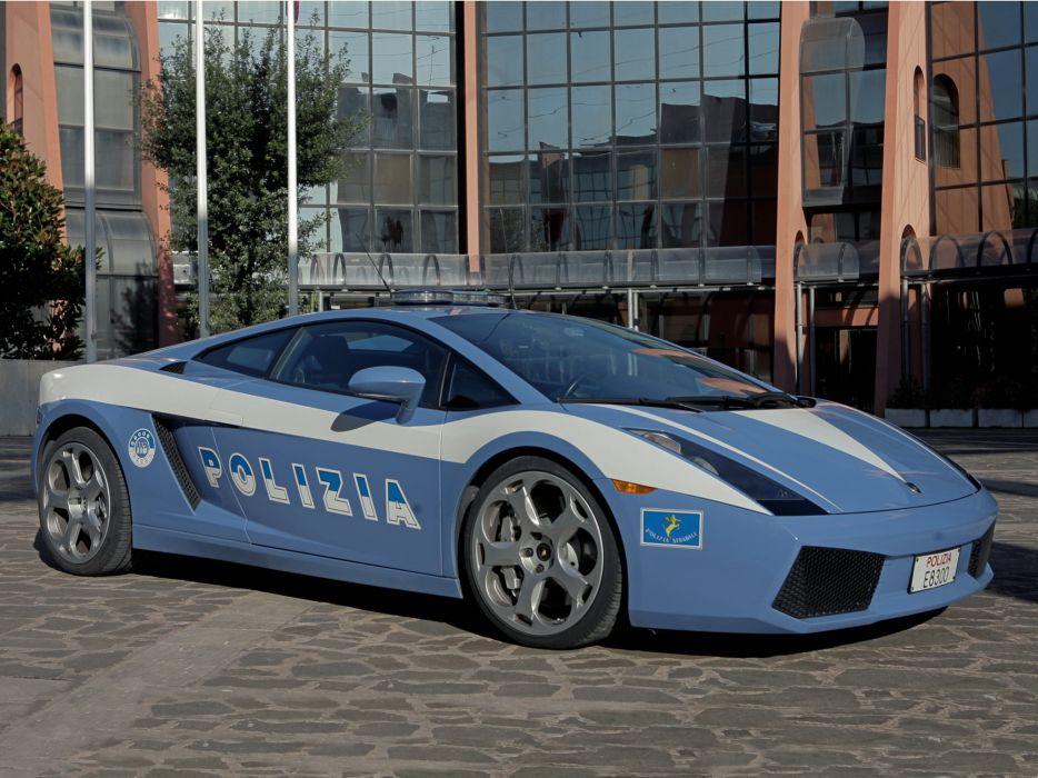 2004 Lamborghini Gallardo Polizia police supercar supercars wallpaper
