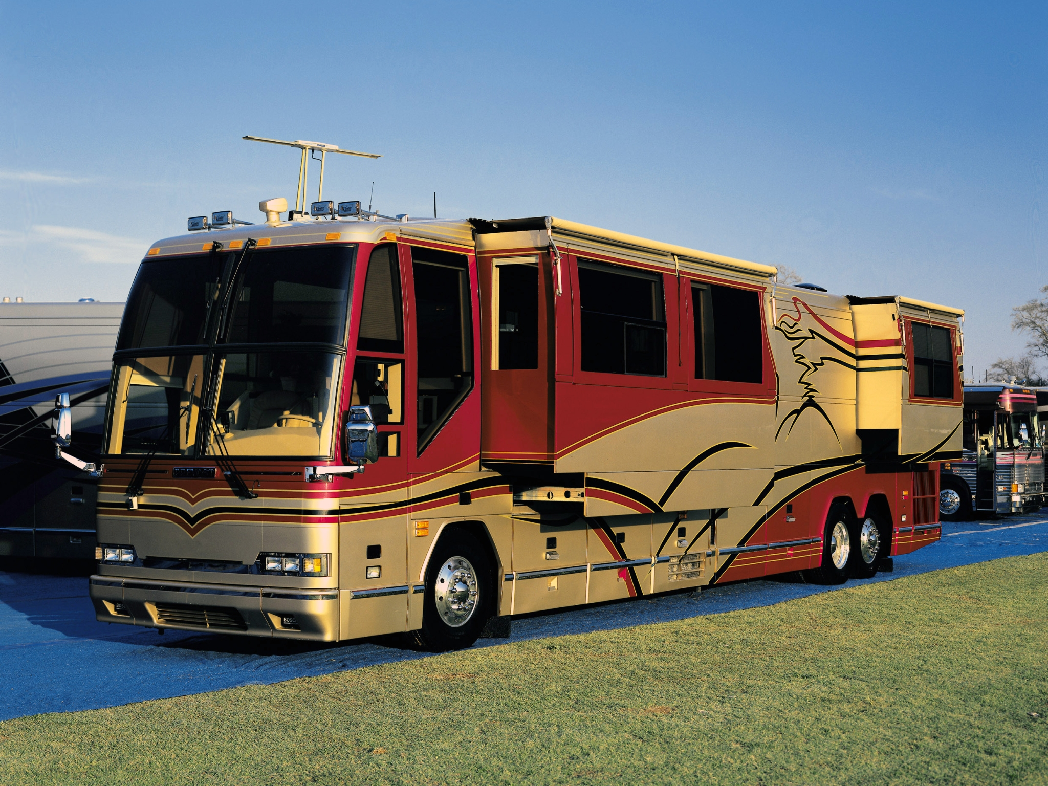 2004 Prevost H3 45 Vip Motorhome Bus Buses Wallpaper