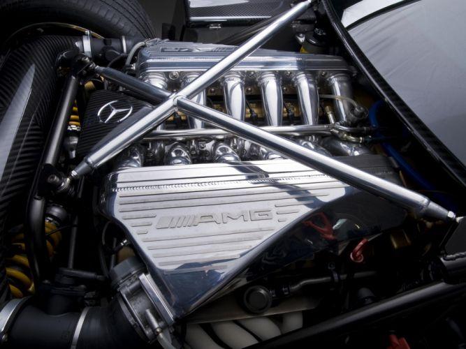 2009 Pagani Zonda G-J supercar supercars engine engines wallpaper
