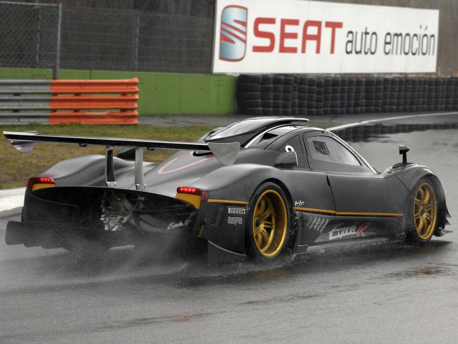 2009 Pagani Zonda R supercar supercars rain drops wallpaper