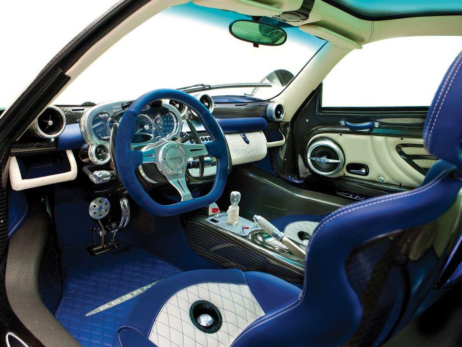 2010 Pagani Zonda Tricolore supercar supercars interior wallpaper