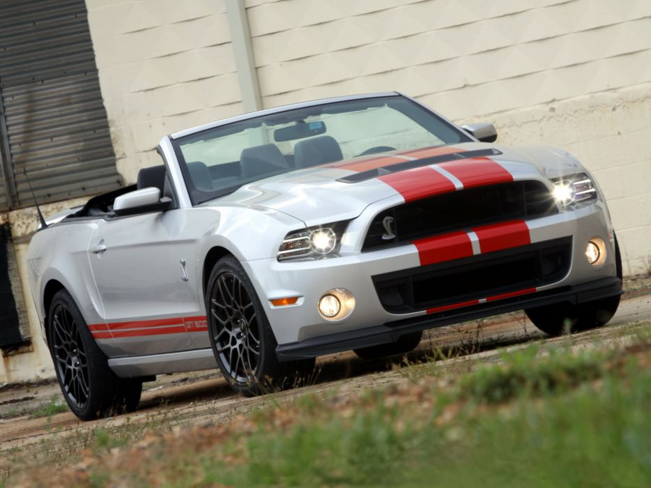 2012 Shelby GT500 SVT convertible ford mustang muscle     g wallpaper