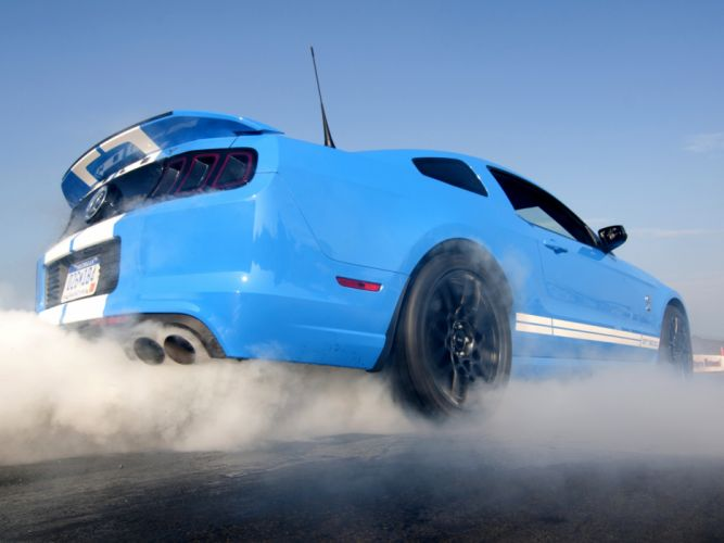 2012 Shelby GT500 SVT ford mustang muscle burnout smoke wallpaper