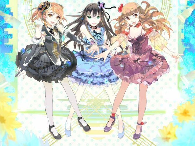 idolmaster girls dress houjou karen cinderella girls kamiya nao shibuya rin wallpaper