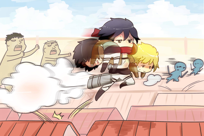 Shingeki No Kyojin Armin Arlert Eren Jaeger Mikasa Ackerman Moxue Qianxi Shingeki No Kyojin Wallpaper 3000x2000 97003 Wallpaperup
