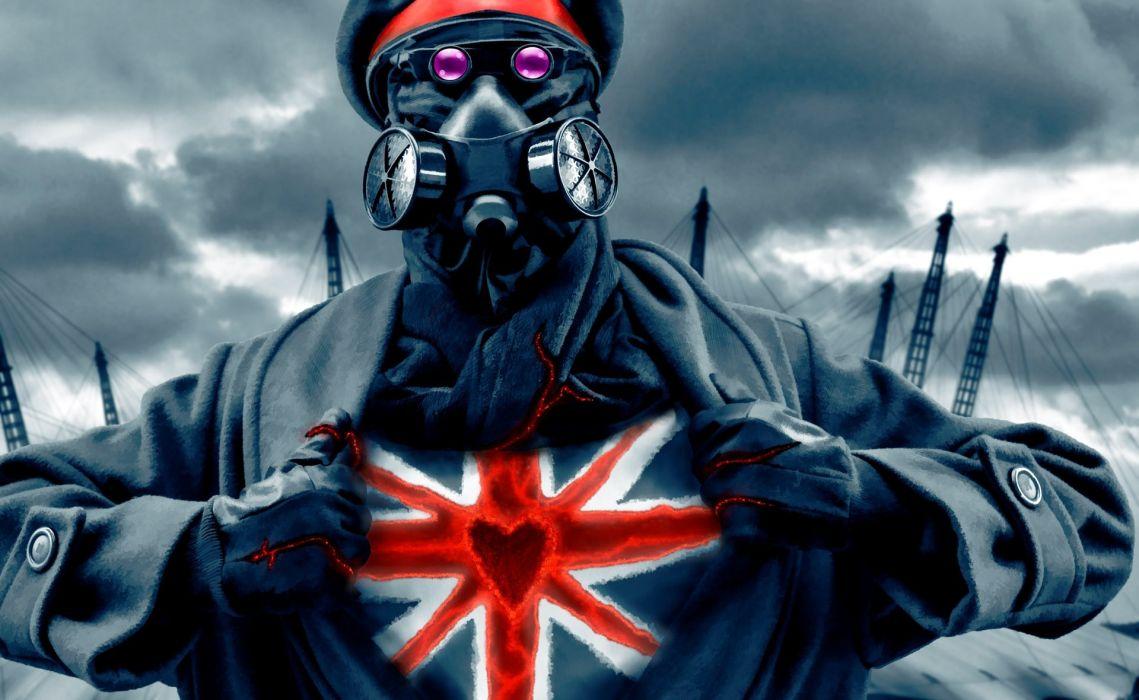 Heroes comics Romantically Apocalyptic Zombie Fantasy sci-fi futuristic heart flag flags wallpaper