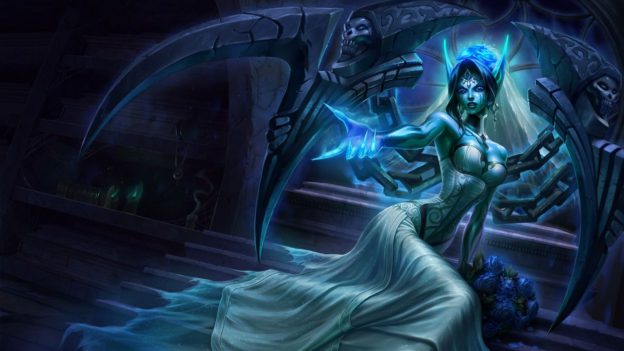 League of Legends Dress Games Girls Fantasy magic wallpaper
