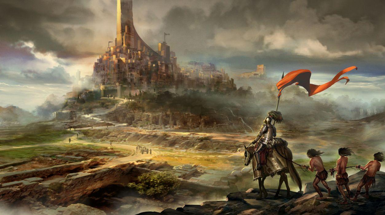Middle Ages Fantastic world Warriors Fantasy warrior wallpaper