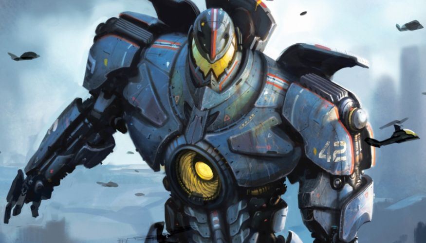Pacific Rim Giant Robot Drawing wallpaper