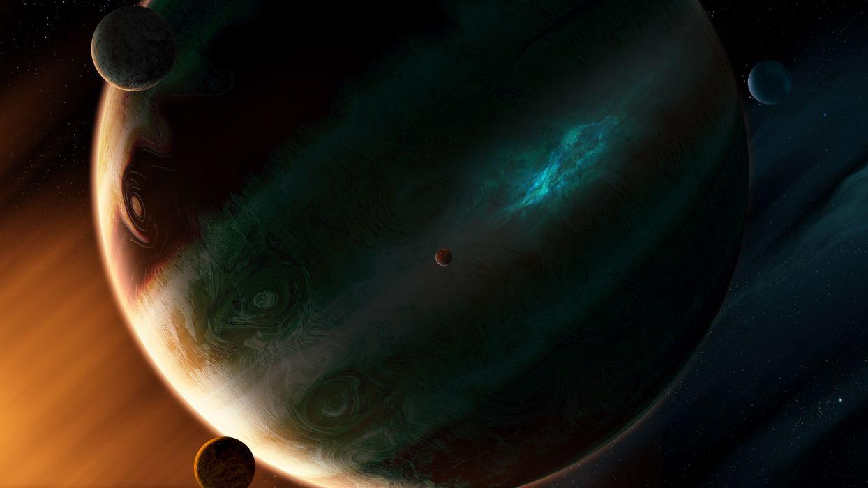 Planet Stars Moon wallpaper