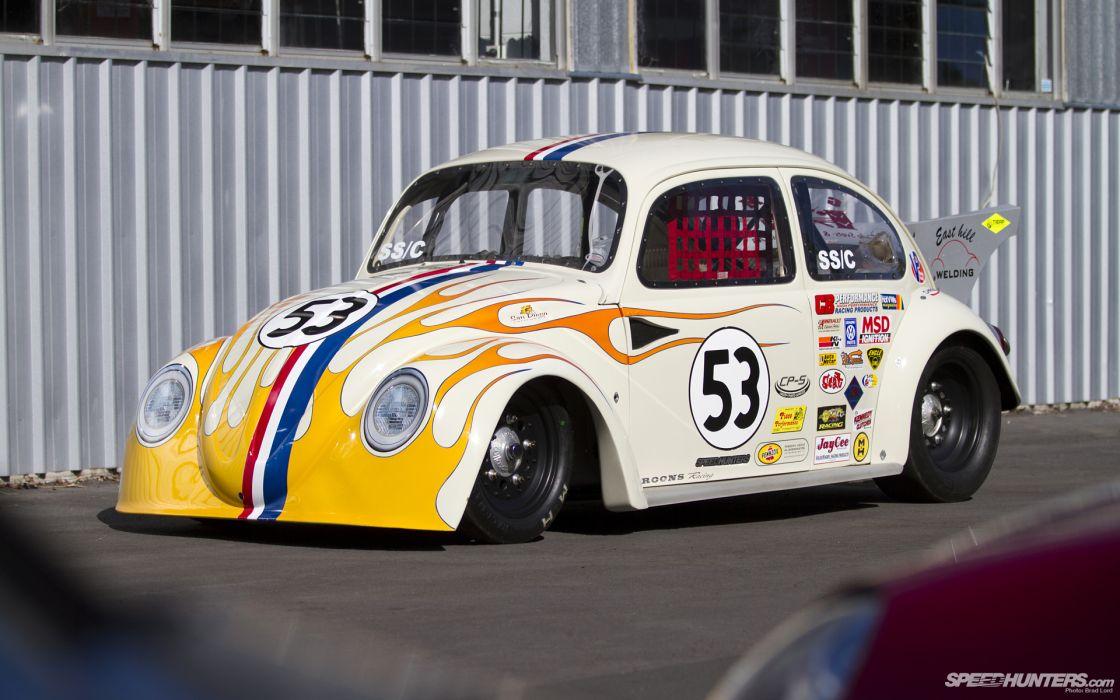 Volkswagen Bug drag race racing hot rod rods classic wallpaper