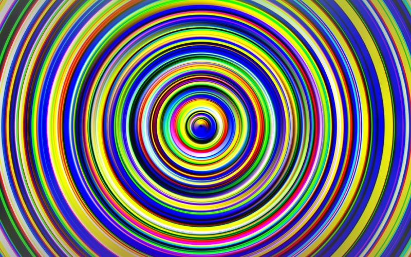 Abstraction 3D Graphics psychedelic teaser wallpaper