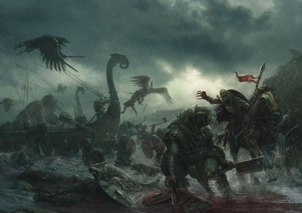 Battles Monsters Fantasy wallpaper