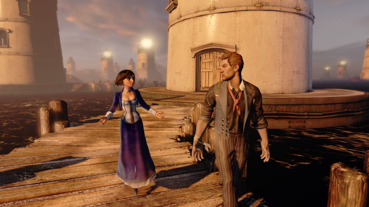 Bioshock Infinite Elizabeth Lighthouse Booker Wallpaper