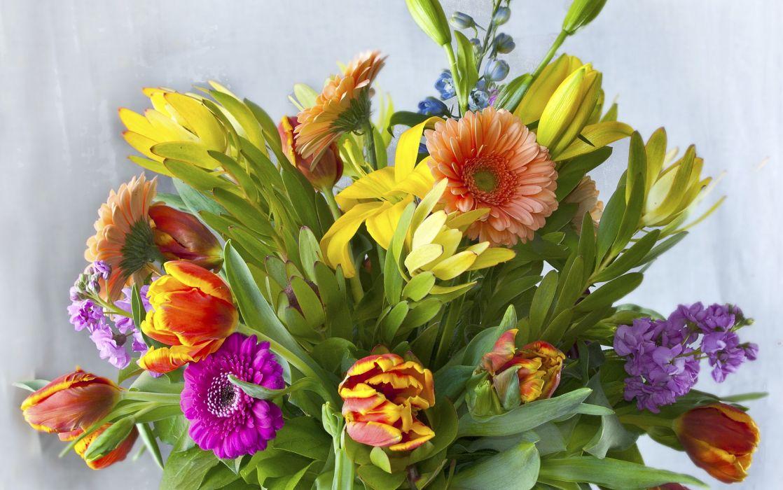 Bouquets Gerberas Flowers wallpaper