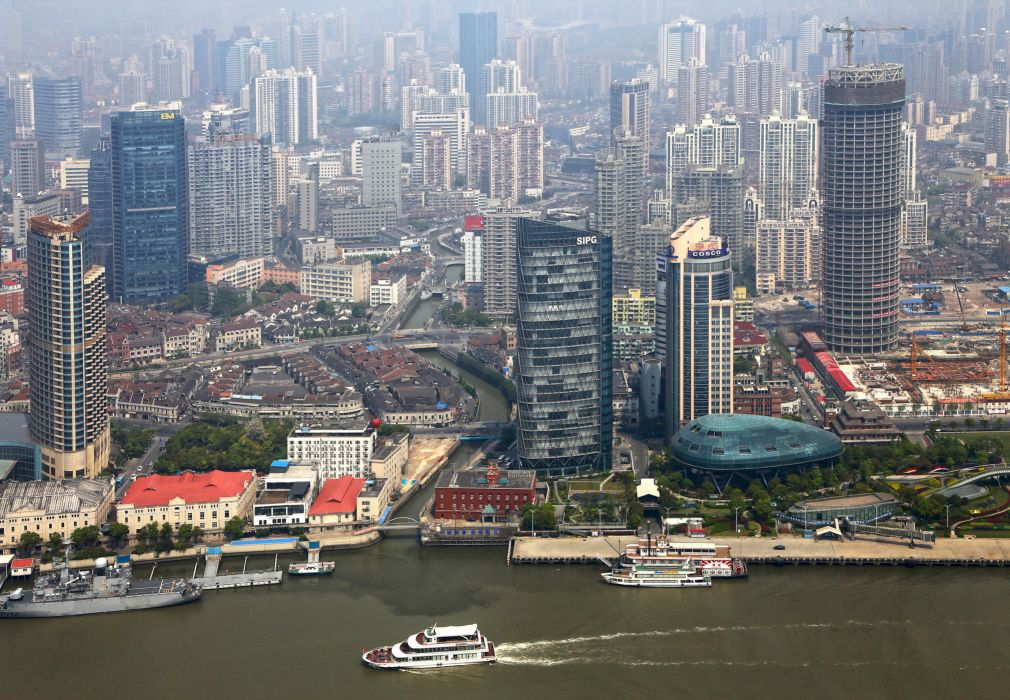 China Houses Skyscrapers Shanghai wallpaper