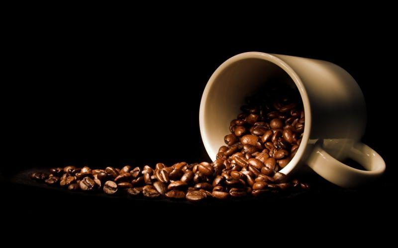 coffee grains mug wallpaper