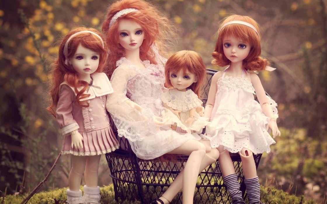dolls toys household wallpaper