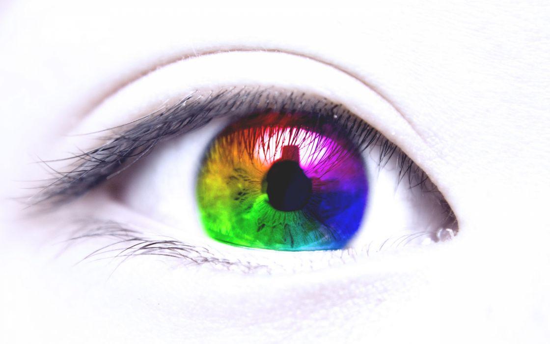 Eyes eye color bokeh wallpaper